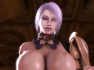 Big boobs 3D babe fucked by various toons