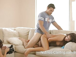 Nubiles Casting-Porn tryouts for busty babe ends with facial