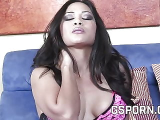 Asian creampie with hard cock