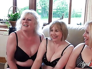AgedLovE Three Matures and One Cock Groupsex
