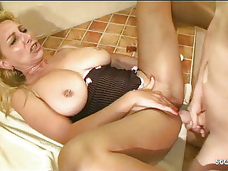 German Big Tits Stepmom Jenny at real Orgasm Compilation