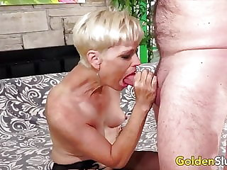 Golden Slut - Older Lady Blowjob Compilation Part 7
