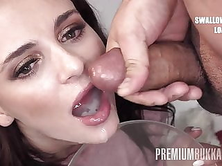 Premium Bukkake - Kate Rich swallows 156 huge cumshots