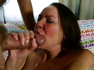 Cock hungry MILF loves to suck and fuck for a facial