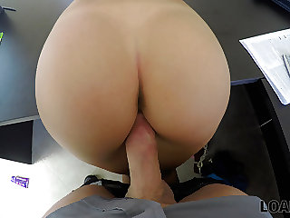 VIP4K. Poor college girl needs loan for a trip so why