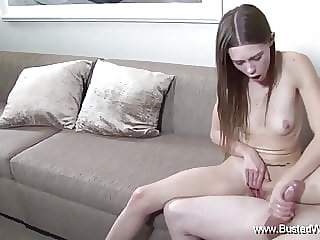 Skinny Alexa Handjob For Daddy Just To Experience Sex