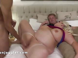 Dougie loves to watch his big tits and ass wife being fucked