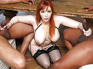 Lauren Phillips Gets DPd By Big Black Cocks