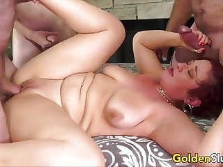 Golden Slut - Matures Getting Gangbanged Compilation Part 3