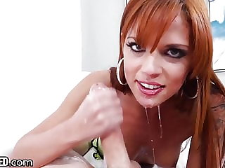 Throated - Redhead Babe Likes It Sloppy
