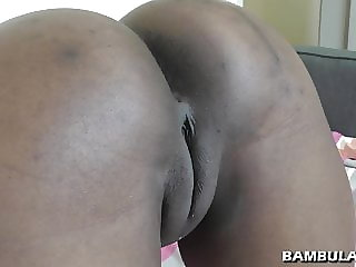 Interracial POV creampie