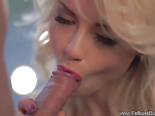 She Looks So Beautiful When Blowing A Cock