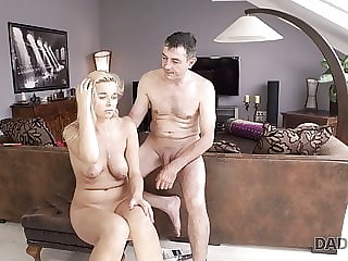 DADDY4K. Dude wakes up and catches blonde sucking dads