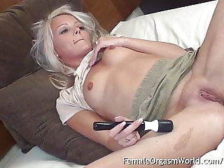 Small Boobs, Big Nipples Babe Has Body Trembling Orgasms