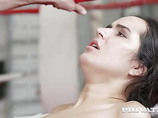 Private.com - Young Boxer Monica Brown DPd By 2 Hard Cocks!