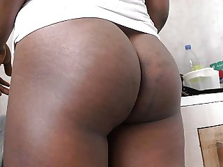 Interacial morning creampie in the kitchen