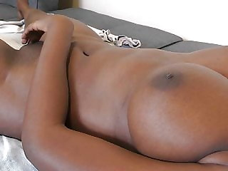 Ebony GF back from quarantine for creampie