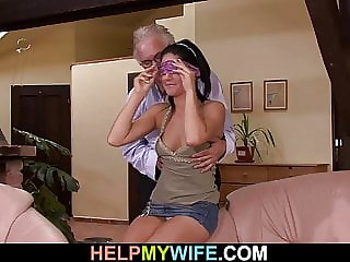 Stranger fucks his young wife for money