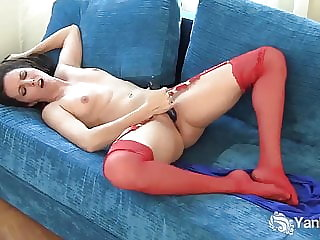 Small Titted Jazmin Toys Her Twat
