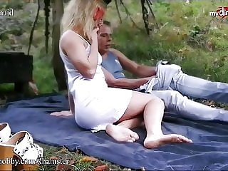 MyDirtyHobby - Young amateur fucks an older man outdoors
