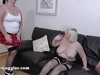 Sarah Jane in a double mature lesbian encounter