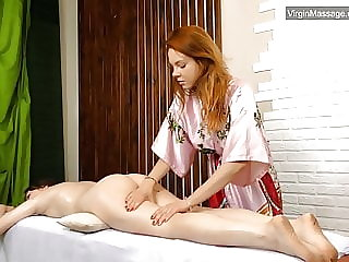 Szilvia a virgin babe from Hungary massaged