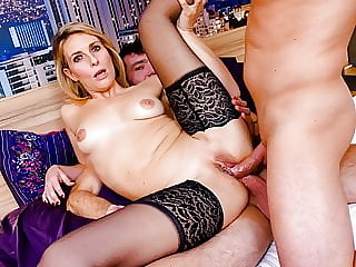 AmateurEuro - French MILF Emma Klein First DP Ever On A 3way
