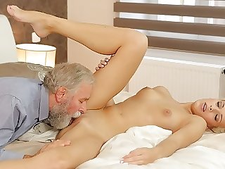 DADDY4K. The best birthday gift is passionate old and young sex