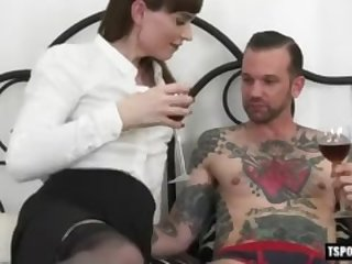 Hot transsexual anal with cumshot