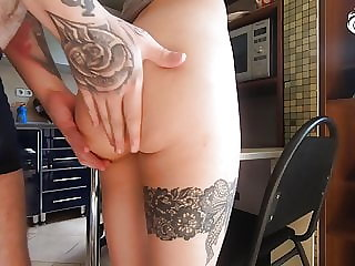 Hot Girl Sensual Fucking Lover after School - Cum on Pussy