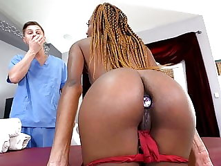 Skinny Ebony Chanel Skye Survives Anal Sex With A Big Dick