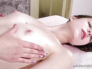 Sofia gets tense massage orgasms