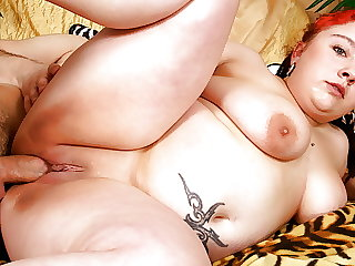 Chubby Fat Busty MILF Has First Fuck with Small Boy