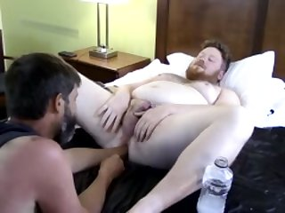 Fisting emo gay sex Sky Works Brock's Hole with his Fist