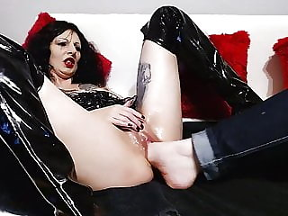 Extreme slave slut, fisting and foot fucking