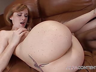 Redhead is a pro black cock rider