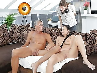 DADDY4K. Taboo sex of old guy and sweet brunette
