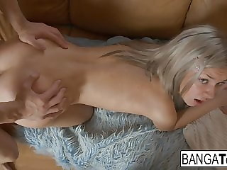 Pretty blonde babe enjoys a good fucking session