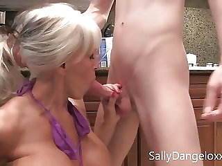 New for the winter, two MILFS love young cock, Sally D'angelo