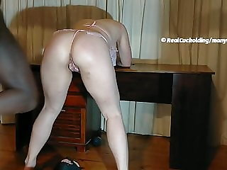 Cuckold Husband Cleaning BBC Creampie
