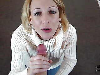 POV CFNM Blowjob and Cum Swallow as Thanks for New Sweater