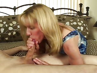 CFNM Blow-Job and Facial Fun with a Fan