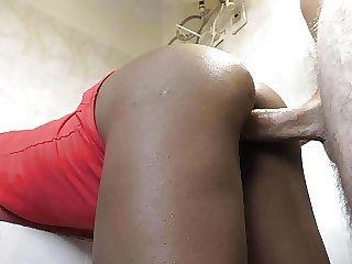 Seed a black chick with a hard white cock