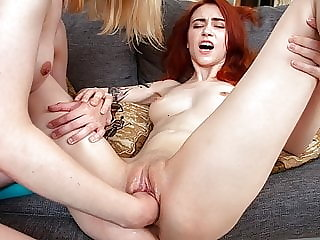 FIST4K. Woman with small tits wants maid