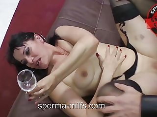 Insatiable Man And Cum Eating Jizz Milf Angie - 10130