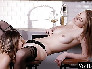 Hot lesbians fuck each other in sexy stockings and pantyhose