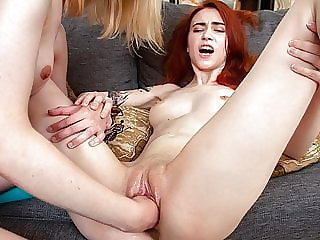 FIST4K. Pretty babe licks employee's pussy and nails it