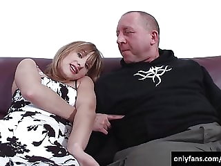 Old man fucks the girl with a very sweet face