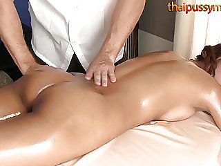 Bootylicious Thai girl massaged, then fucked doggystyle