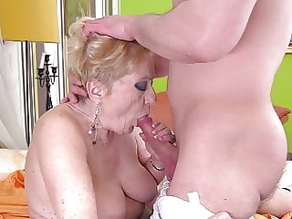 SHOCK CONTENT – Granny takes big young cock